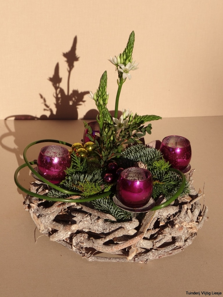 Kerststuk adventkrans