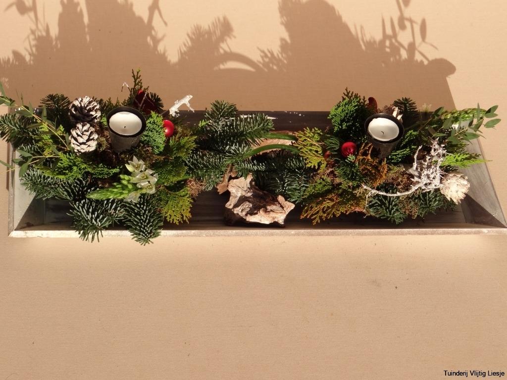 2 Kerststukjes in rechthoek