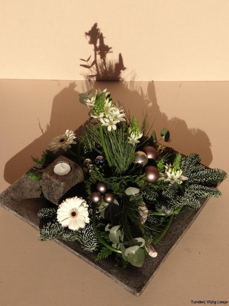 Kerststuk vierkant