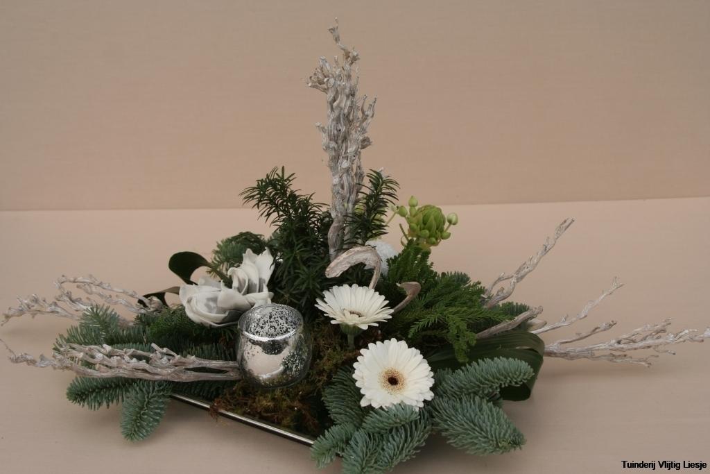 Kerststuk zilver